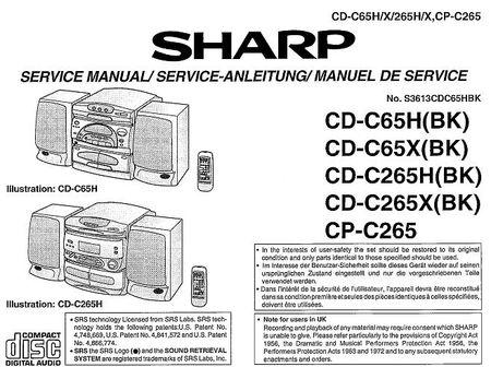 Sharp cd c550h схема бесплатно